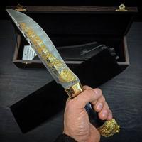 Ножи украшенные золотом Златоуст