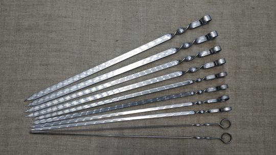 Шампур простой 400*12*3 мм.