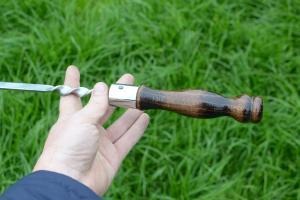Шампур ручка тюльпан 600x15x3 мм.