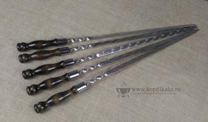 Шампур ручка тюльпан 500x18x3 мм.