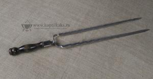 Двойной шампур ручка тюльпан 500x12x3 мм.