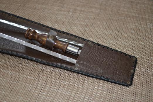 Набор шампуров Тюльпан нат.кожа тиснение 7 шт.