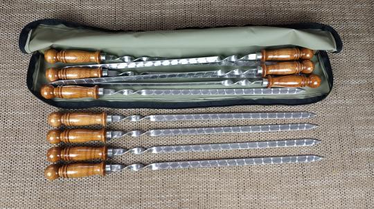 Набор шампуров ручка шар 500*12*3 - 10 шт.