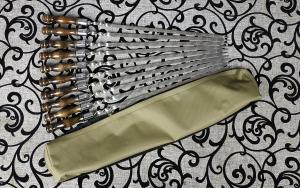 Набор шампуров ручка тюльпан 500*12*3 - 10 шт.