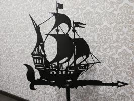 Флюгер на крышу корабль