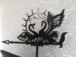 Флюгер лебеди