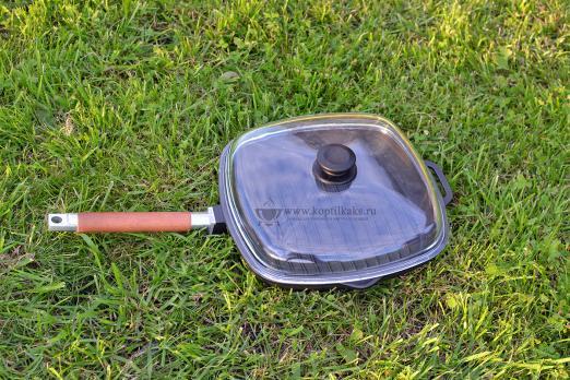 Сковорода гриль 260*260 + стеклянная крышка