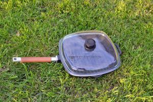 Сковорода гриль 280*280 + стеклянная крышка