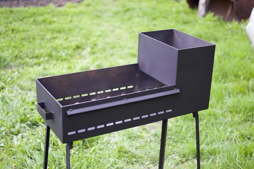 Мангал 700*300*150 С коробом для зжигания