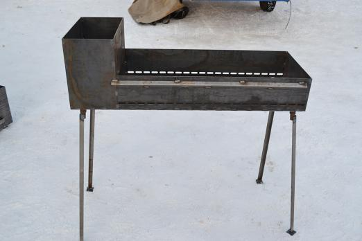 Мангал 1000*350*150 С коробом для зжигания