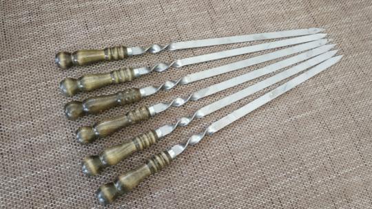 Шампур с деревянной ручкой шар 600*15*3 (АКЦИЯ)