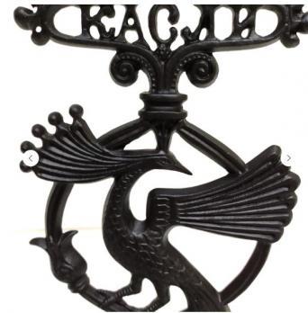 Каслинское литье Скульптура подсвечник «Птица Феникс»
