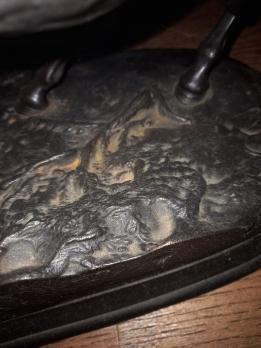 Каслинское литье Скульптура Кони на воле б/р
