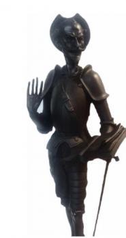 Каслинское литье скульптура Дон Кихот Касли б/р