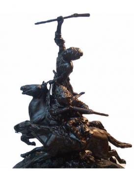 Каслинское литье скульптура Джигитовка Касли б/р