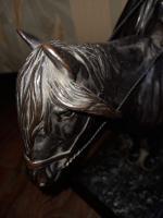 Каслинское литье Скульптура Киргиз на лошади Касли м/р.