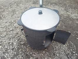 Очаг под казан простой 390 мм. с трубой