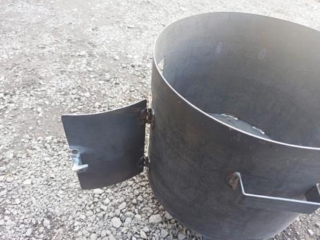 Очаг под казан простой 430 мм. с трубой