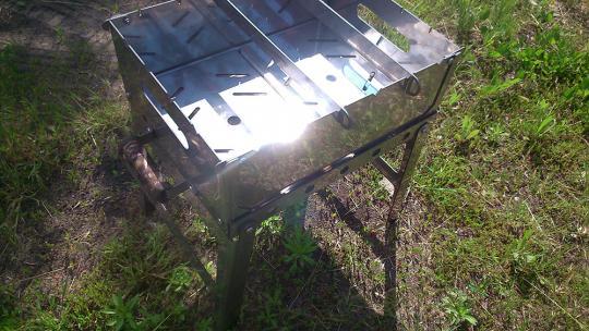 Мангал складной S(6) нержавеющая сталь