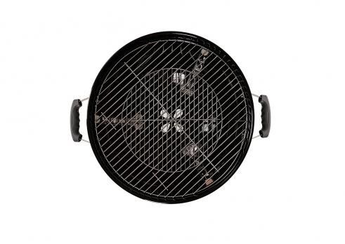 Угольный гриль Premium 56 GoGarden с термометром черный