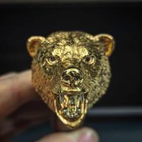 """Нож Н-5 """"Медведь"""", Златоуст, золото, художественное литьё"""