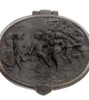 Шкатулка «Танцы и охота» Каслинское литье