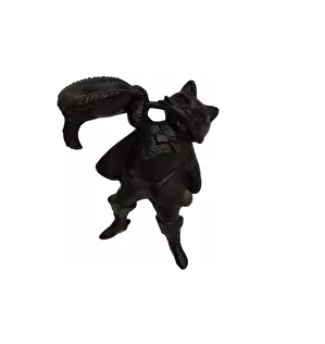 Каслинское литье подсвечник «Кот в сапогах»