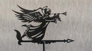 Флюгер на крышу ангел