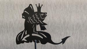 Флюгер на крышу золотая рыбка