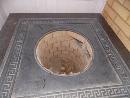 Плита чугунная под казан 750х750 мм. с орнаментом